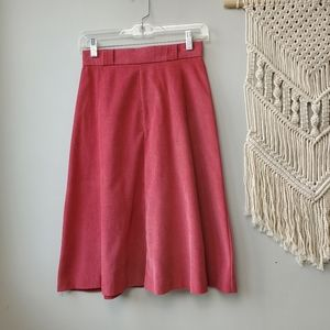 Vintage College Town Dusty Pink 1970s Skirt XS